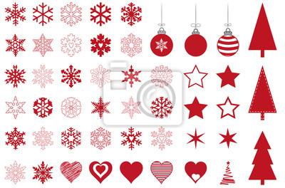 weihnachtssymbole fototapete fototapeten weihnachtsstern kardialen weihnachtskugel. Black Bedroom Furniture Sets. Home Design Ideas