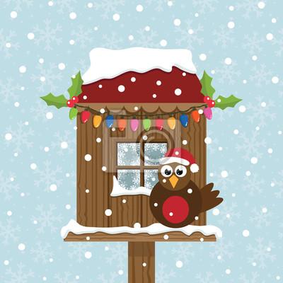 Weihnachtsvogelhäuschen