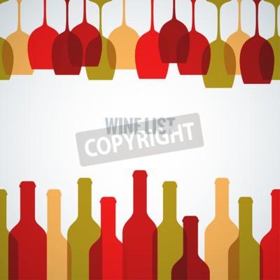 Fototapete Wein Glas Flasche Kunst Hintergrund