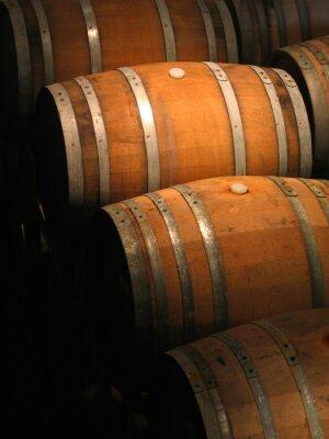 Fototapete Weinfässer im Keller