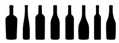 Fototapete Weinflaschen Icons