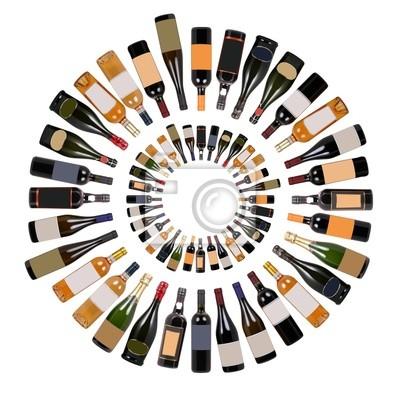 Weinflaschen Wirbel
