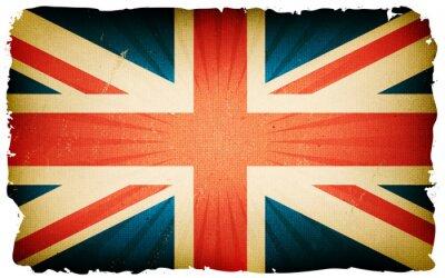 Fototapete Weinlese-englischer Flaggen-Plakat-Hintergrund
