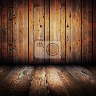 Weinlese-gelben Holzbohlen Innen