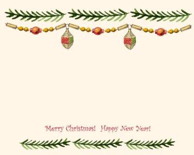 Weinlese-Vektor-Weihnachtskarte