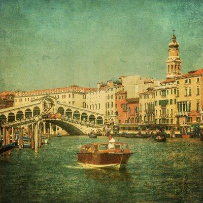 Fototapete Weinlesebild des großartigen Kanals, Venedig