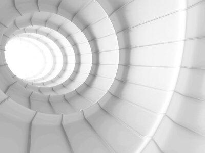 Fototapete Weiß Abstrakte Tunnel Design Hintergrund