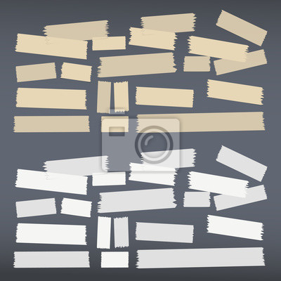 Gut Fototapete Weiß, Braun Unterschiedlicher Klebstoff, Klebeband, Papierstücke.