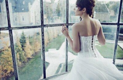 Fototapete Weiß Braut
