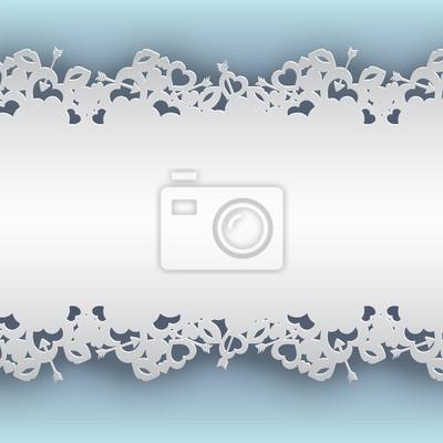 Weiß geschnürt hintergrund mit herzen, lippen und amor pfeil ...