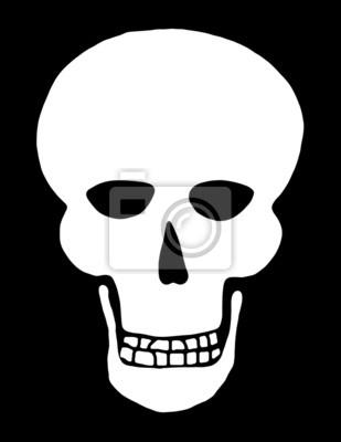 Weiß Schädel auf Schwarzem