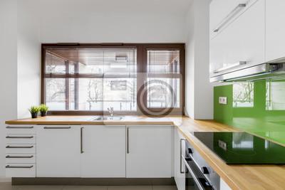 Fototapete Weiße Küche Mit Modernen Schränken