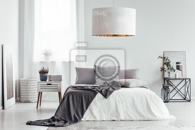 Weisse Lampe Im Hellen Schlafzimmer Fototapete Fototapeten