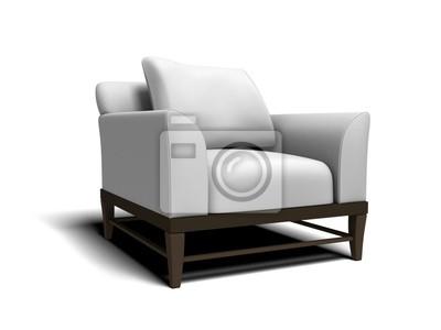 weie sessel top weie vintage kroken leder sessel von ke. Black Bedroom Furniture Sets. Home Design Ideas