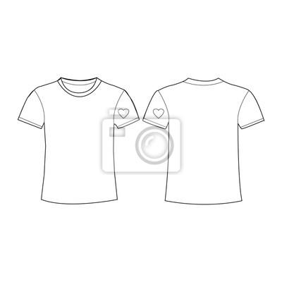 fdd7108a6b24d Weiße t-shirts ikonen fototapete • fototapeten Ausrüstung, unisex ...