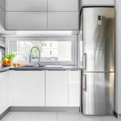 Weiße villa küche mit fenster fototapete • fototapeten ...