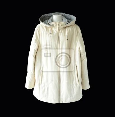 Weiße winterjacke   kapuzen-jacke   steppjacke fototapete ... 7e9b17a0be