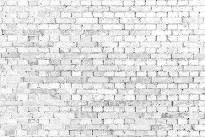 Fototapete Weiße Ziegelmauer