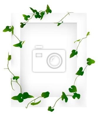 Fototapete weißen Rahmen