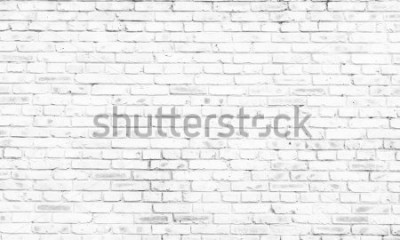 Fototapete weißer Backsteinmauerhintergrund im ländlichen Raum,