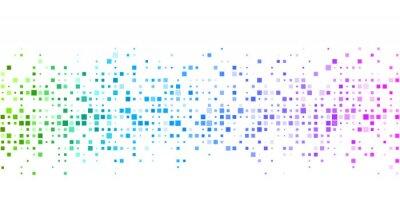 Fototapete Weißer Hintergrund mit buntem geometrischem Muster.