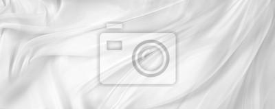 Fototapete Weißer Seidenstoff