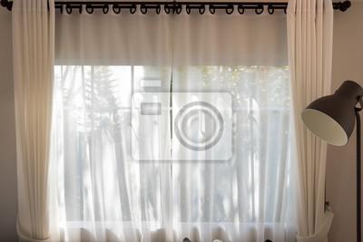 Weißer Vorhang Und Fenster Fototapete Fototapeten Blinde