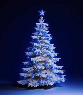 Weißer Weihnachtsbaum Mit Beleuchtung | Weisser Weihnachtsbaum Fototapete Fototapeten Merry Sankt Tanne