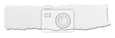 Fototapete weißes Papier zerrissen Nachricht Hintergrund