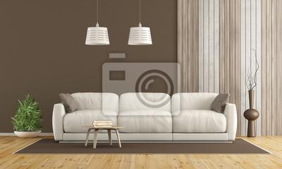Weißes sofa im modernen wohnzimmer fototapete • fototapeten ...