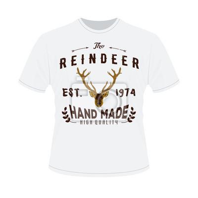 23d540cd44ad8f Fototapete Weißes T-Shirt mit Druck von Authentic Hipster Logotype mit Zügel