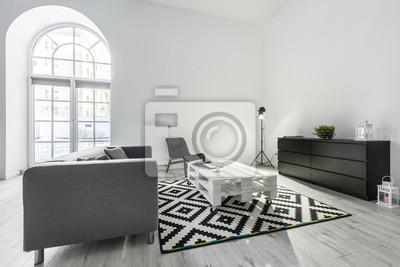 Weisses Wohnzimmer Mit Sofa Fototapete Fototapeten Appartment