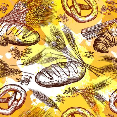 Weizen Nahtlose Muster