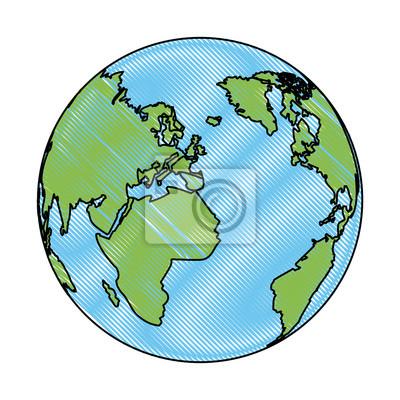 Karte Erde.Fototapete Welt Erde Globale Karte Kontinent Geographie Vektor Illustration