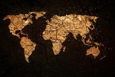 Fototapete Weltkarte auf grunge Hintergrund