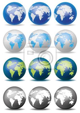 Globus Weltkugel Karte.Fototapete Weltkugel Weltkarte Globus Landkarte Karte 13