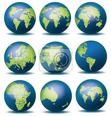 Globus Weltkugel Karte.Fototapete Weltkugel Weltkarte Globus Landkarte Karte 4