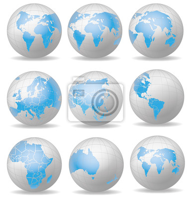 Globus Weltkugel Karte.Fototapete Weltkugel Weltkarte Globus Landkarte Karte 9