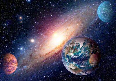 Fototapete Weltraum Planet Galaxie Milchstraße Erde Mars Universum Astronomie Sonnensystem Astrologie. Elemente dieses Bildes von der NASA eingerichtet.