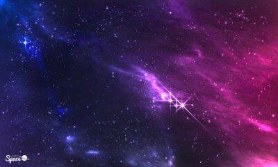 Fototapete Weltraum. Vektor-Illustration der kosmischen Nebel mit Stern-Cluster.