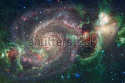 Fototapete Weltraumkunst. Nebel, Galaxien und helle Sterne in schöner Komposition. Elemente dieses Bildes von der NASA eingerichtet