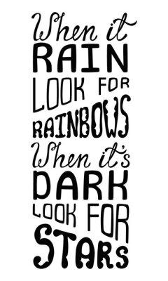 Fototapete Wenn es Regen für Regenbogen, wenn es dunkel suchen nach Sternen.