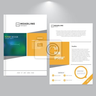 Werbung Flyer Design Minimalistischer Stil Gelbe Formen