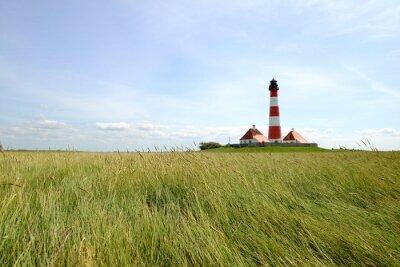 Fototapete Westerhever Leuchtturm - Nordsee