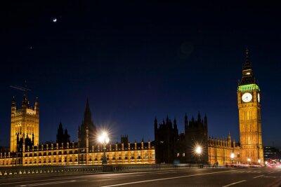 Fototapete Westminster und der big ben bei nacht
