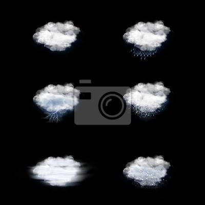 Wettervorhersage Icons Set