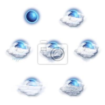 Wettervorhersage Icons Set, Mond Version