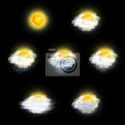 Wettervorhersage Icons Set, Sun Version