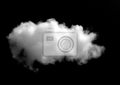 Fototapete White cloud object for nature design summer background