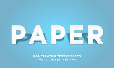 Fototapete White Paper Text Effect